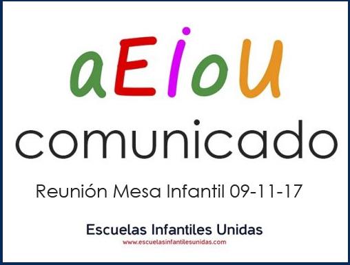 Escuelas Infantiles Unidas plantea la necesidad de aplicar medidas que apuesten decididamente por la conciliación familiar en Andalucía
