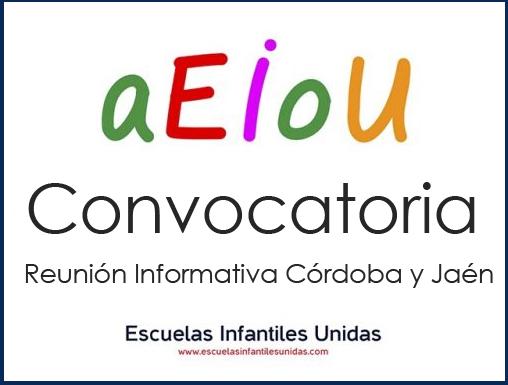 Convocatoria de Reunión Informativa de EIU para asociados de Córdoba y Jaén