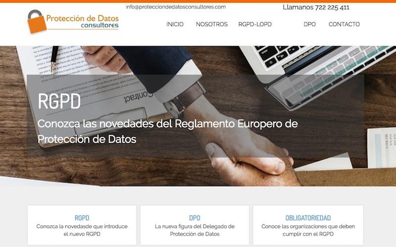 Protección de Datos Consultores web