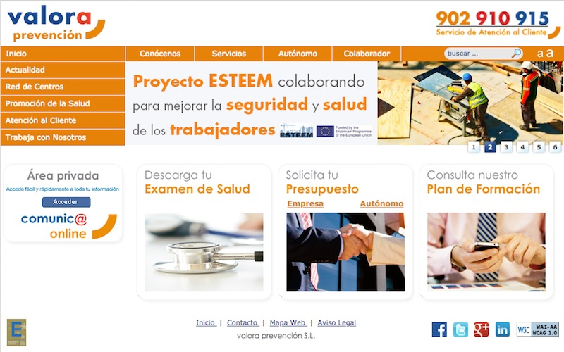 Valora Prevención web