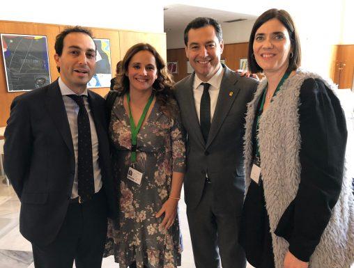 Reunión de Escuelas Infantiles Unidas con los representantes en las comisiones de Educación de los diferentes grupos políticos en el Parlamento de Andalucía