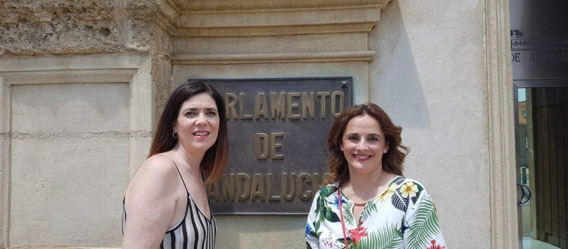 Gema Alarcón y Maribel Uncala, secretaria y presidenta Escuelas Infantiles Unidas